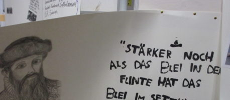 """Ausstellung zum Projekttag """"Jahrestage"""""""